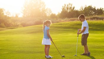 Kids Learning to Golf