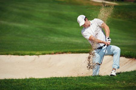 Golf Shot from Bunker