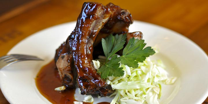 Juicy BBQ ribs